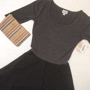Grey/Black SOFT Nicole XS, NWT